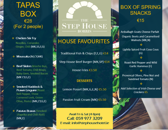 tapas menu 23rd 24th april snipped